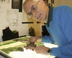 Andrew Boddington kiln-worked and traditional stained glass artist.