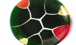 Fracture Plate, fused and slumped glass. Boddington