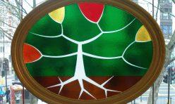 Fracture Tree, fused glass. Boddington