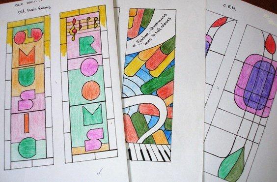 Sketches for Music Window. Boddington