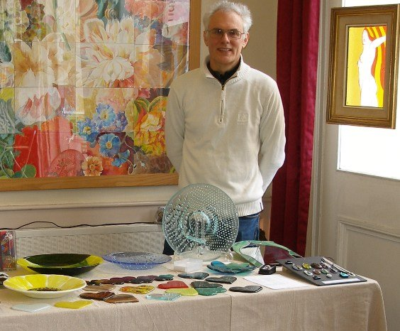 Andrew Boddington at the Guild of Craftsmen exhibition Alresford