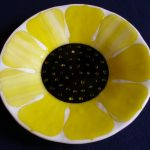 Success with Sunflower Fused Glass Bowl
